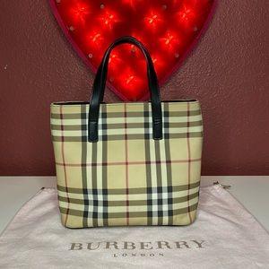 Burberry Mini Classic Novacheck Shopper Tote